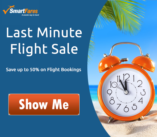 Use coupon Code SFLMT15 & Save $15 On Last Minute Flights.