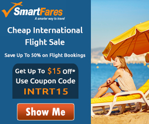 International Flight Sale - Get Up To $15 Off* with Coupon Code