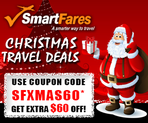 $60 Off Christmas Travel Flight Discount