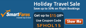 Get $15 Off per Person on Flight Bookings