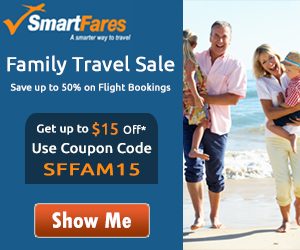 Exclusive Family Travel Deals. Book Now and Get Flat $15 Off with Coupon Code: SFFAM15
