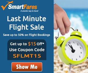 Spectacular Last Minute Flight Deals. Book Now and get $30 Off with Coupon Code