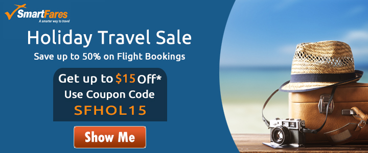 Mind-Blowing Holiday Travel Sale. Book now and get up to $15 off* with coupon code: SFHOL15