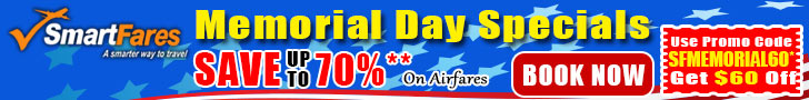Exclusive Memorial Day Flight Deals