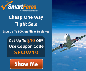 Cheap One Way Domestic Flights! Book Now and Get $10 Off with Coupon Code