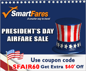 President's Day Deals! Get up to $60* Off with Coupon Code SFAIR60. Book Now!