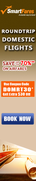 Cheap Domestic Roundtrip Flights. Book now and take $30 off with coupon code: DOMRT30.
