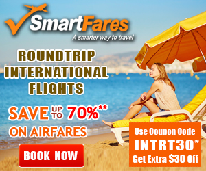 Cheap Roundtrip International Flights. Get $30 Off with coupon code: INTRT30