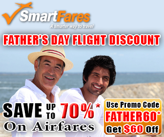 Father's Day Flight Discount! Get $60 Off On Airfares.