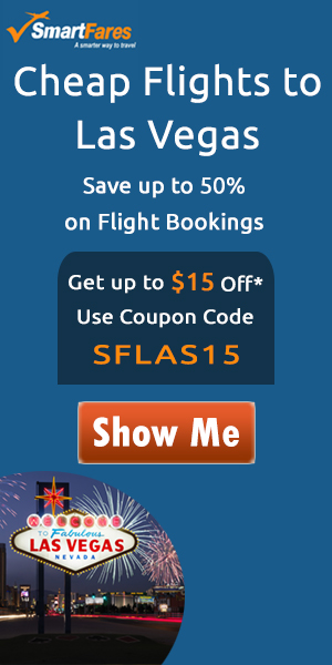 Cheap Flights To Las Vegas! Extra $15 Off On All Flight Bookings.