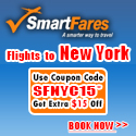 Cheap Flights To New York! Extra $15 Off On All Flight Bookings.