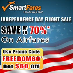 Independence Day Flight Discount. $60* Off On Airfares.