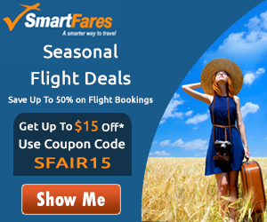 Amazing Summer Travel Flight Deals. Book now and get $15 off with coupon code: SUMMER15!
