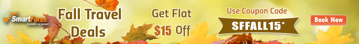 Book Early for Fall and Save Big! Get Flat $15 Off with Coupon Code