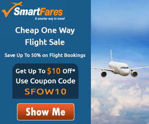 One Way Airfare Sale! Get Flat $15 Off with Coupon Code