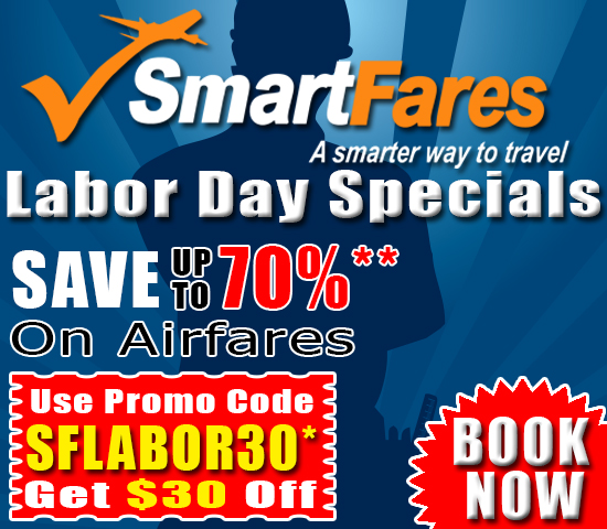Labor Day Exclusive Discount! Get $30 Off On Airfares.